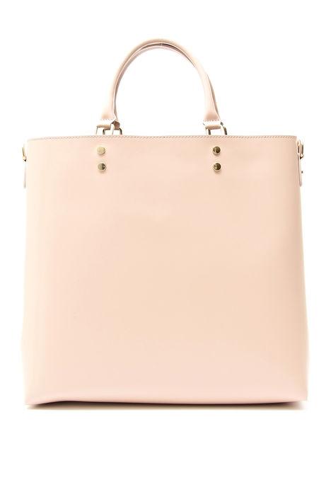 Shopping bag in pelle liscia Diffusione Tessile