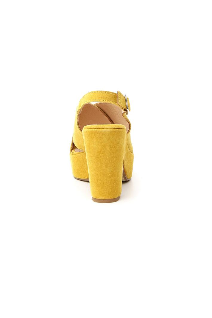 Sandalo in pelle pelle scamosciata scamosciata in giallo giallo senape Sandalo rrgSxw5qa