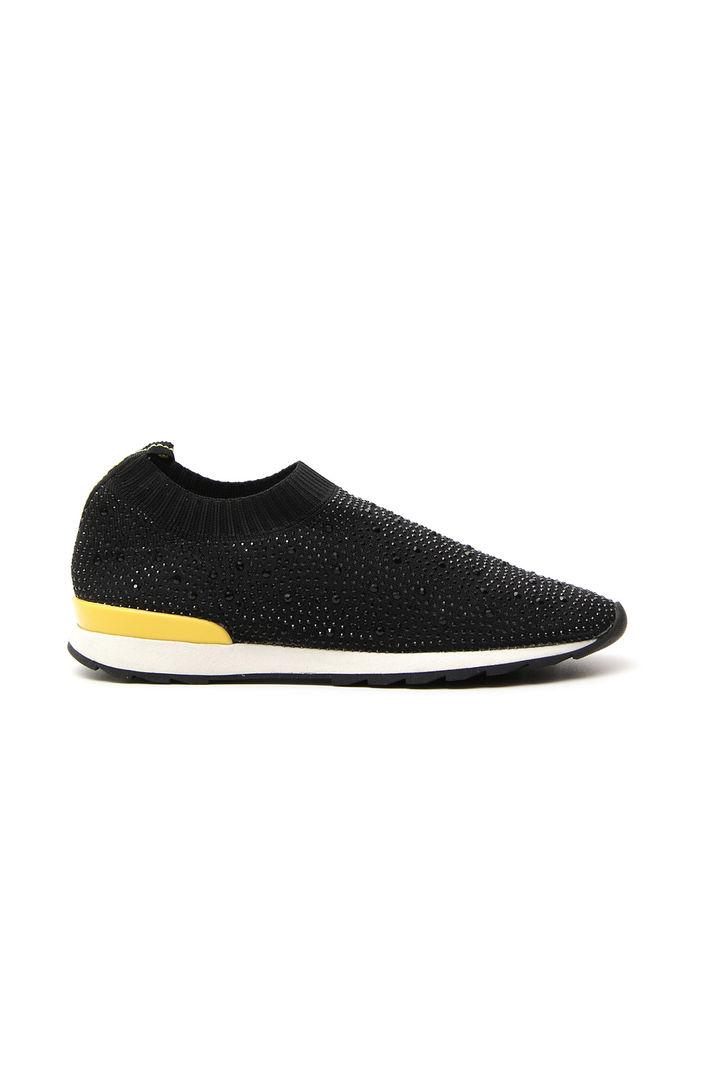 Sneakers con strass applicati, nero