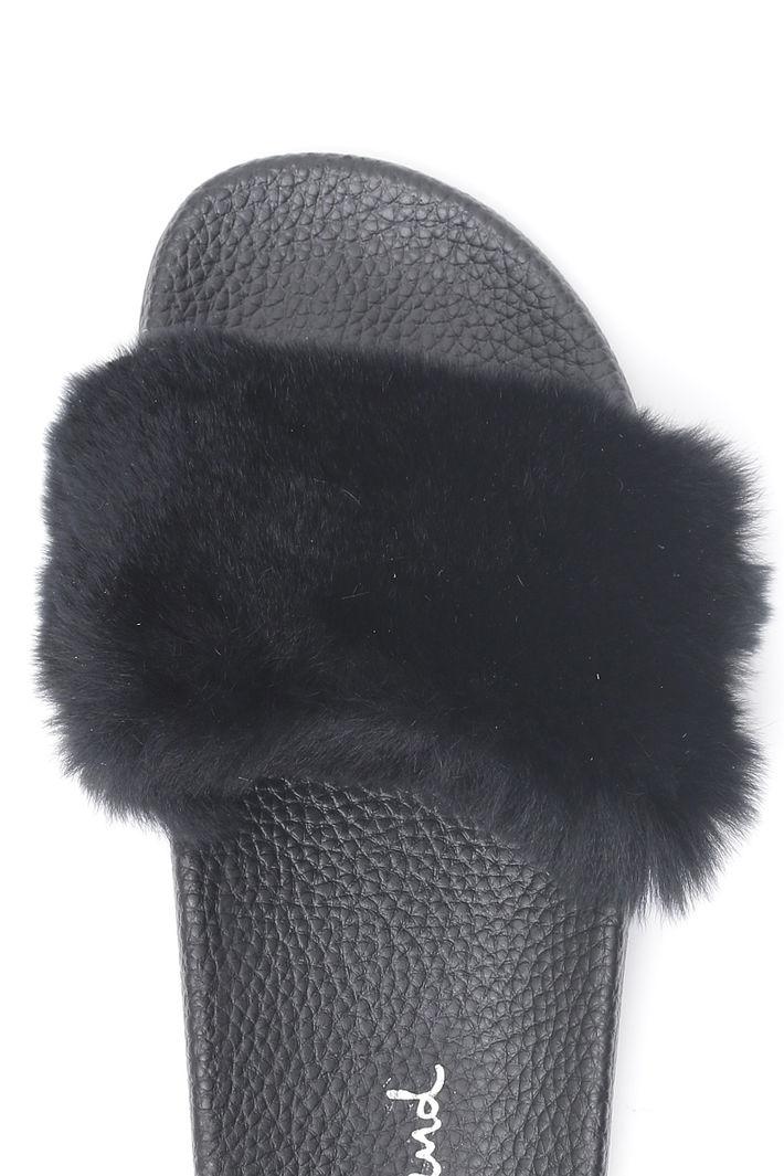 Ciabatta in vera pelliccia Fashion Market