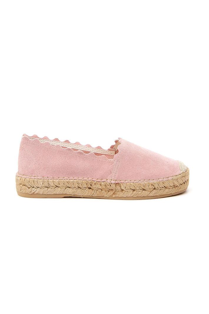 Espadrillas in vera pelle, rosa pastello