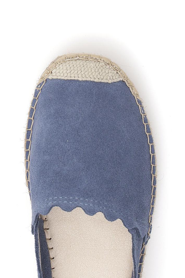 Espadrillas In Vera Pelle Blu