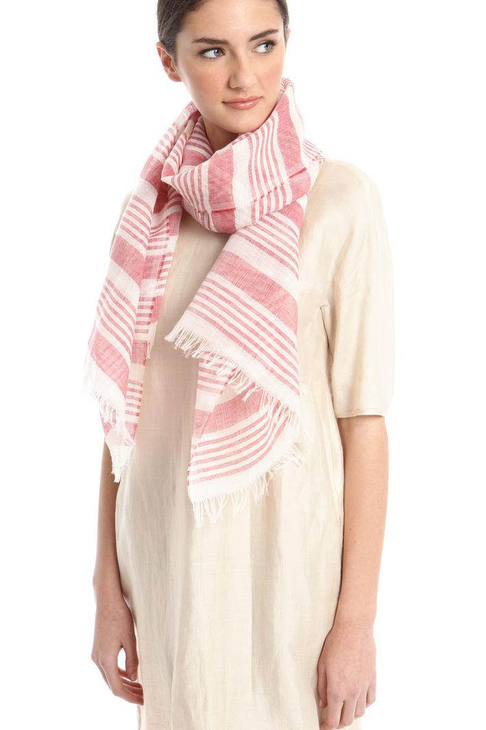 Sciarpa rigata in lino Fashion Market
