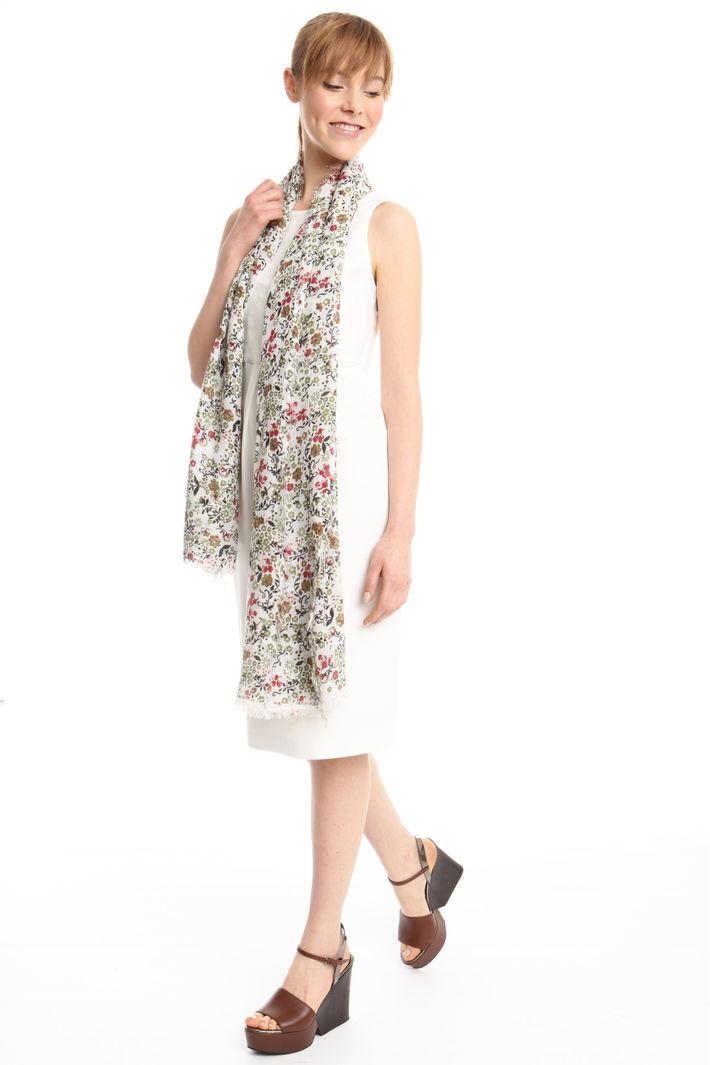 Sciarpa floreale con frange Fashion Market