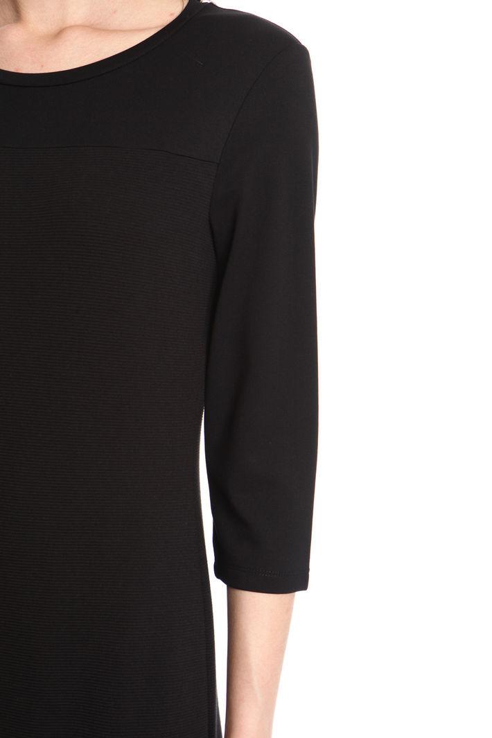Tubino in jersey ottoman, nero