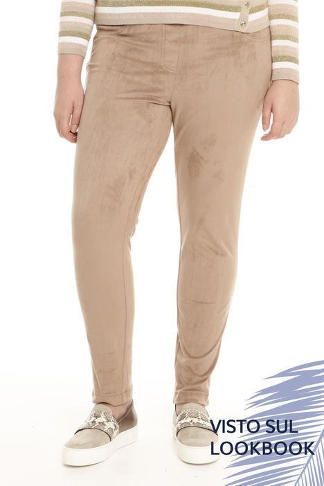 Pantalone effetto scamosiciato Intrend
