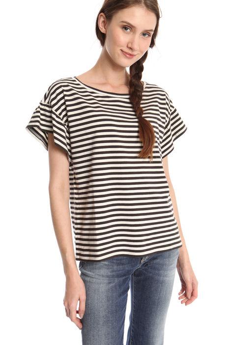 T-shirt con rouches su maniche Diffusione Tessile