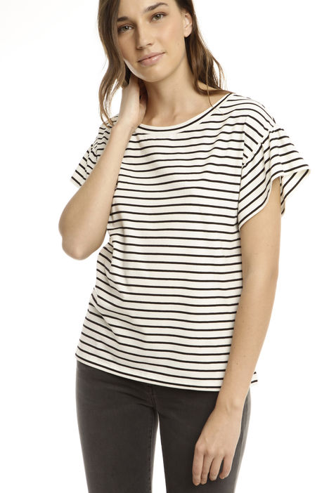T-shirt con rouches su maniche Intrend