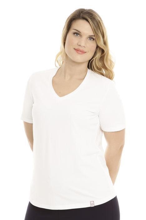 T-shirt con scollo a V Intrend