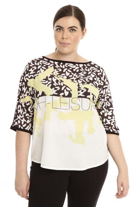 T-shirt con maniche a kimono Intrend