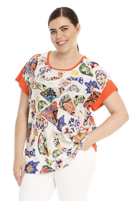 T-shirt in tessuto stampato Diffusione Tessile