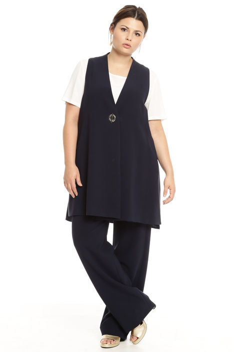 Gilet lungo in triacetato Intrend
