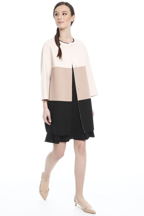 Cappotto color block in lana Intrend