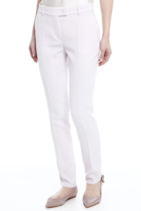 Pantaloni in triacetato fluido Diffusione Tessile