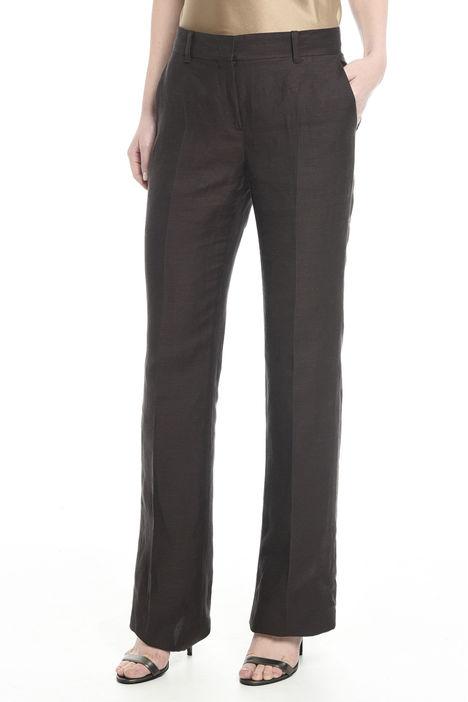 Pantalone in twill di lino Intrend