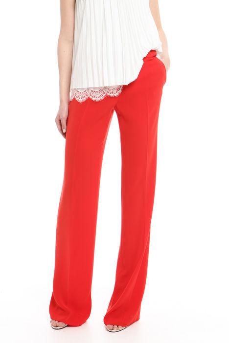 Pantalone a zampa in cady Diffusione Tessile