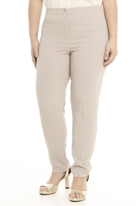 Pantalone a vita alta in crepe Intrend