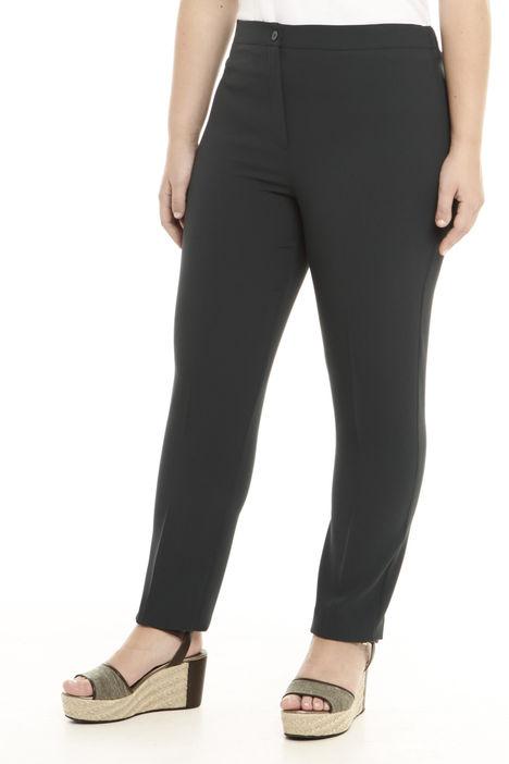 Pantalone a vita alta in crepe Diffusione Tessile