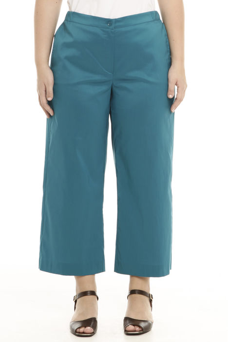 Pantalone cropped in popeline di cotone Intrend