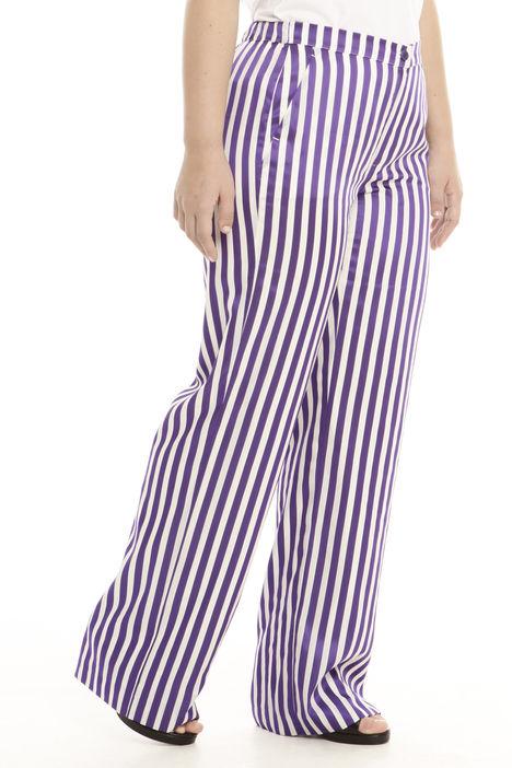 Pantalone palazzo rigato Diffusione Tessile