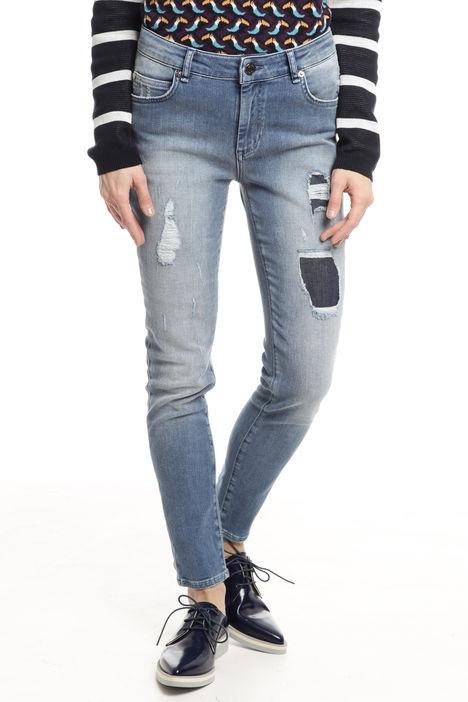 Jeans con rovinatura Diffusione Tessile
