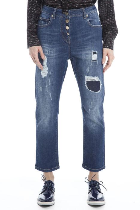 Jeans con strappi a motivo Diffusione Tessile