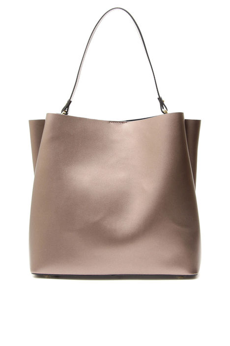 Tote bag in pelle liscia Intrend