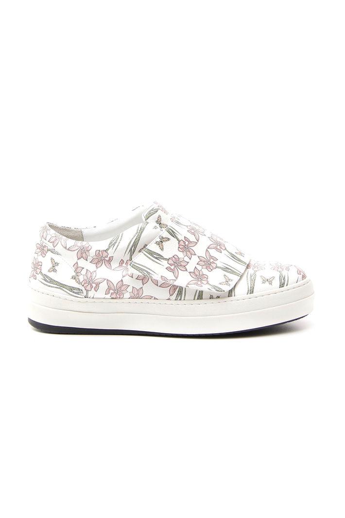 Sneakers con strap, bianco rosa