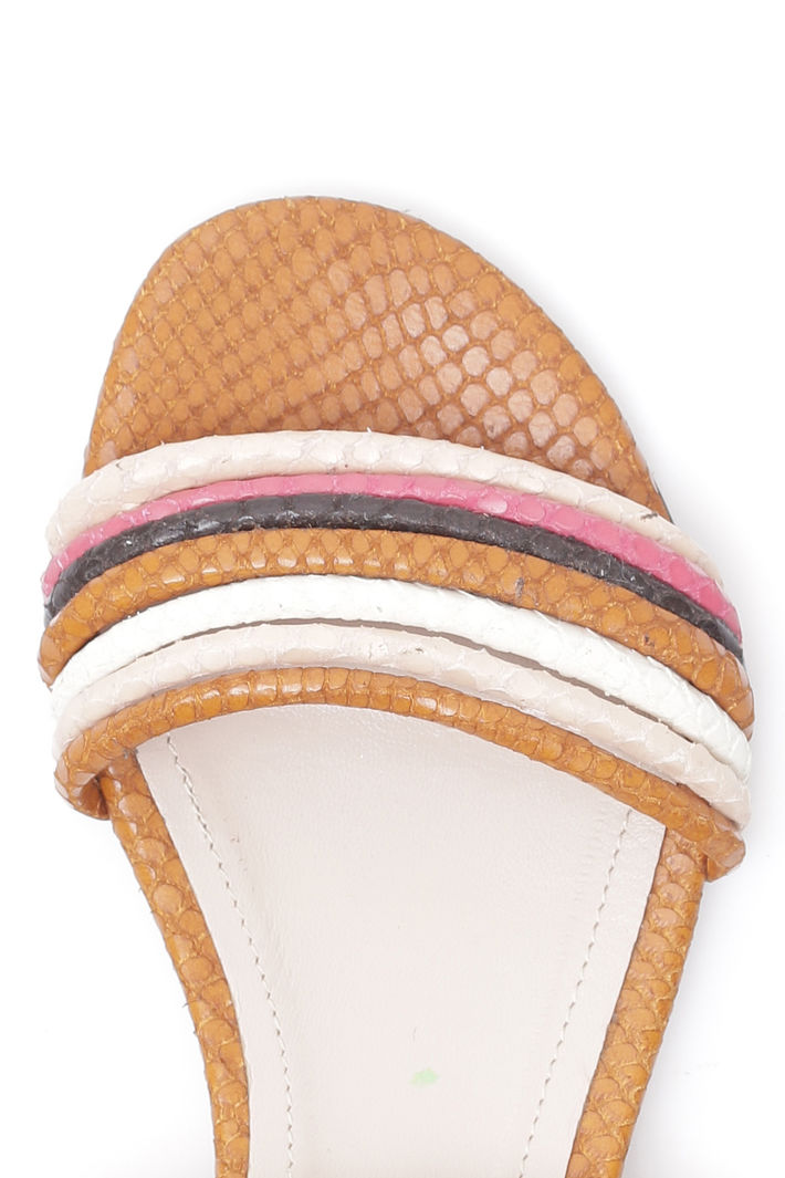Sandali bassi con listini, ruggine rosa