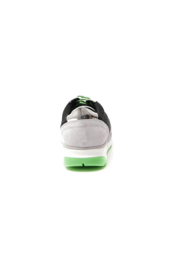 Sneakers in tessuto, nero verde grigio