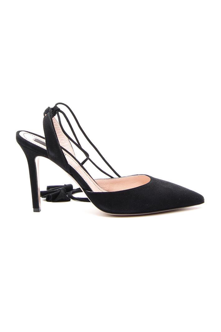 Scarpe d'orsay in camoscio, nero