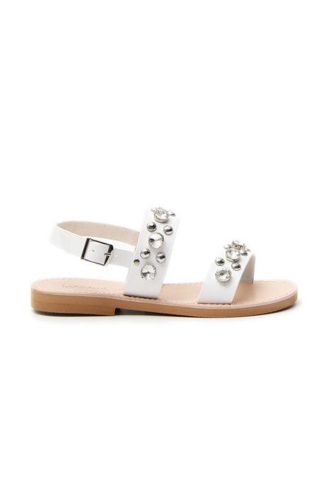 Sandalo con dettagli gioiello Diffusione Tessile