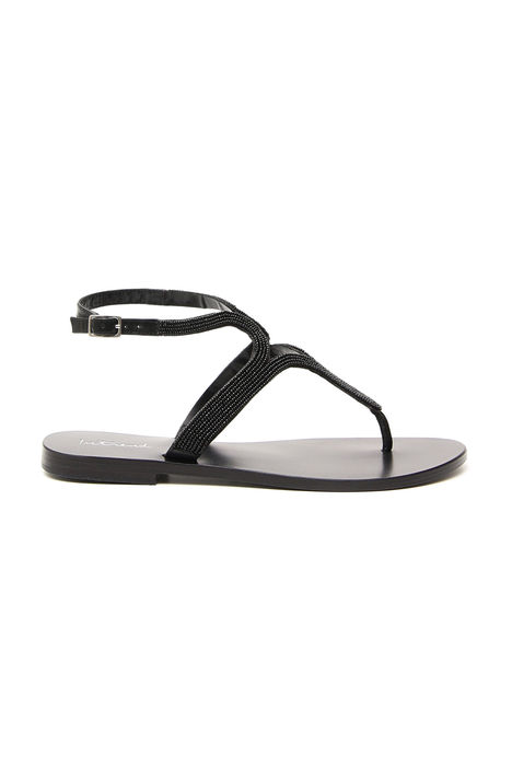 Sandalo con perline ricamate Intrend