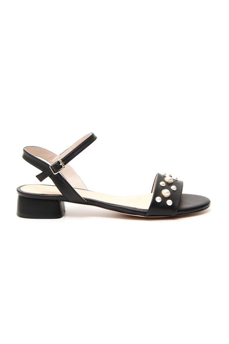 Sandalo con perle applicate Diffusione Tessile