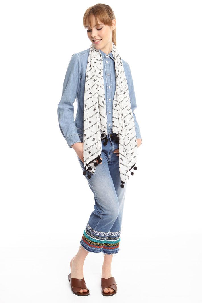 Sciarpa con piccoli pon-pon Fashion Market