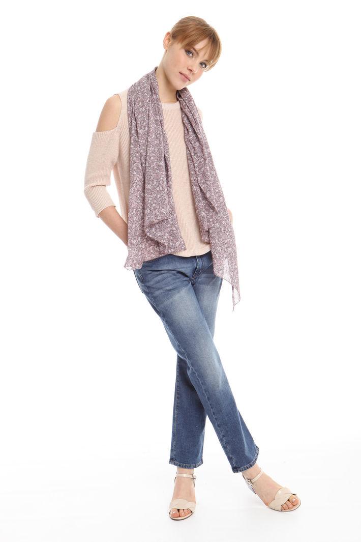 Sciarpa in seta misto cotone Fashion Market