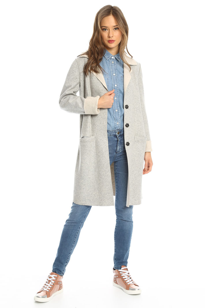 Cappotto in jersey reversibile Intrend