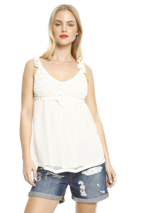 Top crochet in cotone Intrend