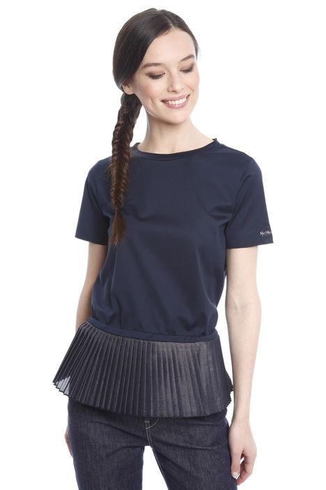 T-shirt con inserto plissè Diffusione Tessile