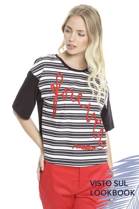 T-shirt over con ricamo Diffusione Tessile
