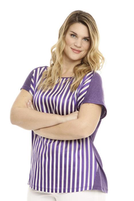 T-shirt boxy in jersey di lino Diffusione Tessile