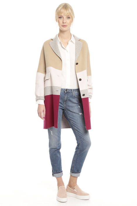 Cappotto in double color-block Intrend