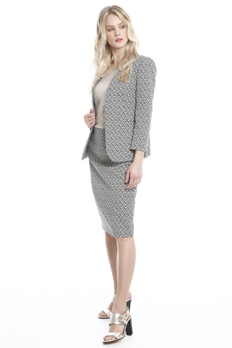Giacca semiaderente jacquard Intrend