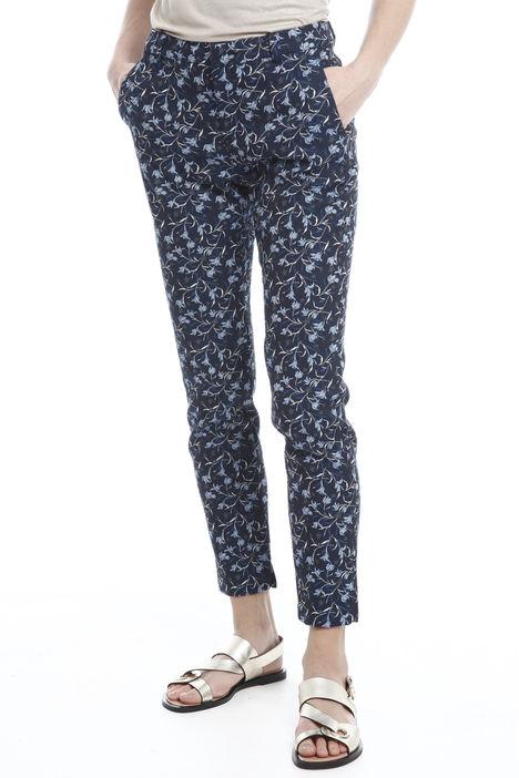 Pantaloni in cotone jacquard Intrend