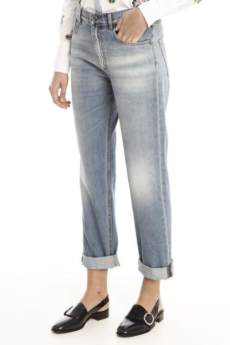 Jeans boyfirend con risvolti Diffusione Tessile