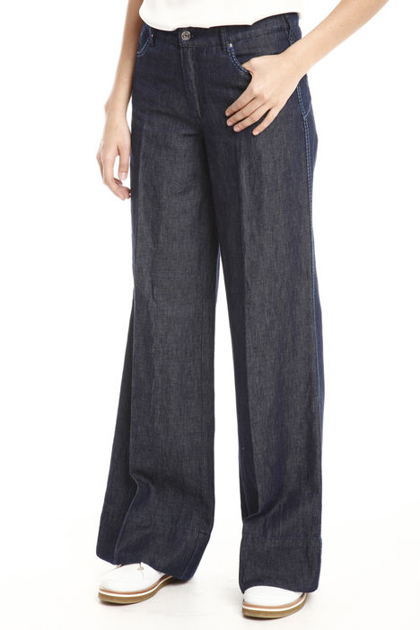 Jeans palazzo con impunture Intrend