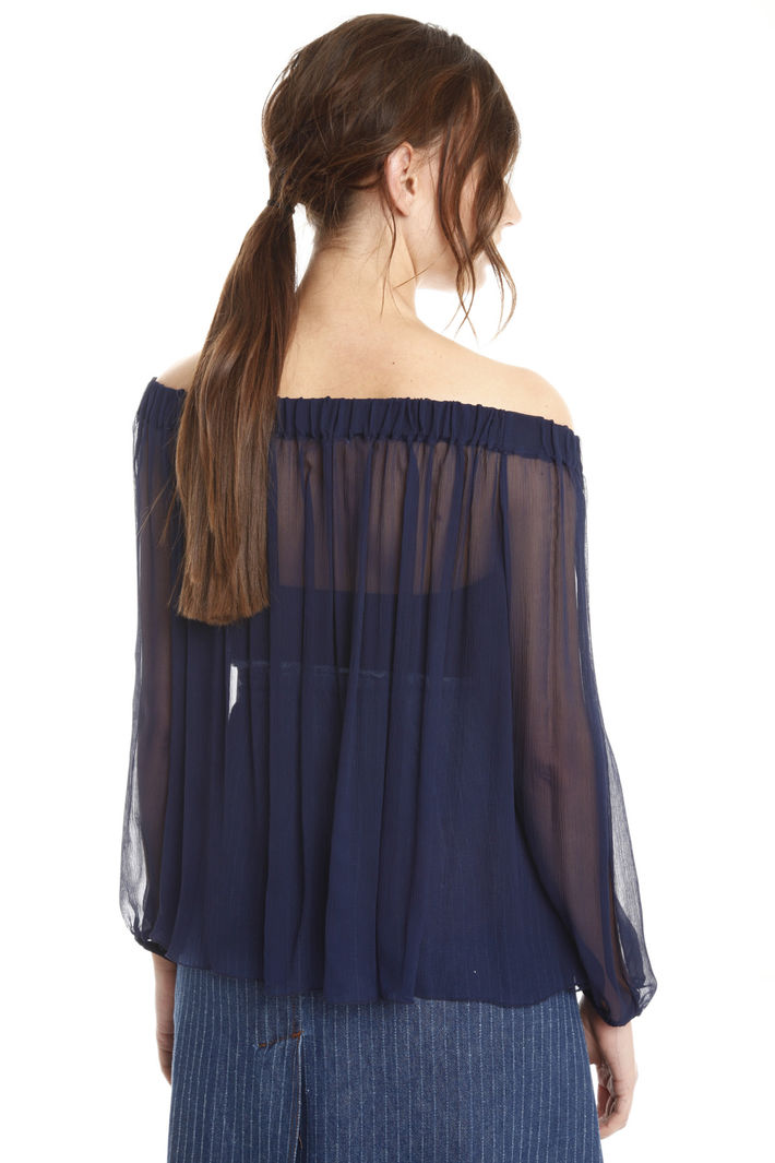 Blusa in creponne con top Intrend