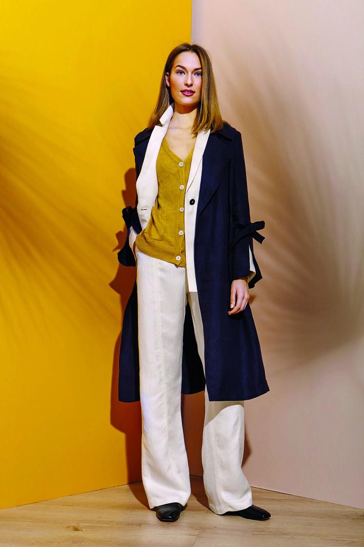 Giacca in diagonale di lino Fashion Market