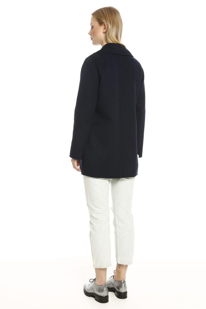 Cappotto doppiopetto in angora Fashion Market