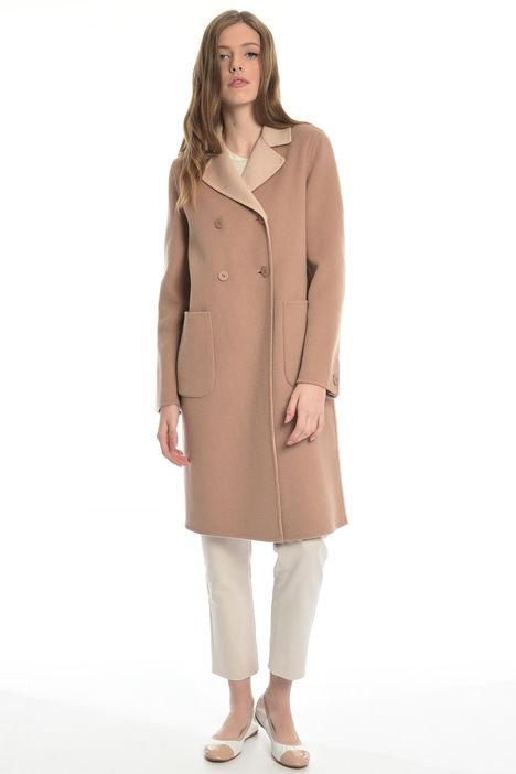 Cappotto doppio petto in lana Diffusione Tessile